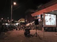 Doc. Sinema Di Pojok Pasar Kita, oleh Komunitas Gubuak Kopi dan Rumah Kreatif Solok, di Pasar Semi Modern Kota Solok. 30 Maret 2016