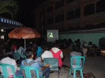 Peluncuran program Sinema Pojok oleh Komunitas Gubuak Kopi, di RTH Kota Solok, dengan penayangan filem Harimau Minahasa, 2 Oktober 2015