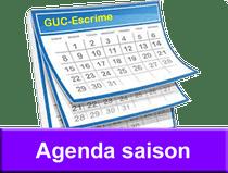 Calendrier Agenda compétitions événements GUC Escrime