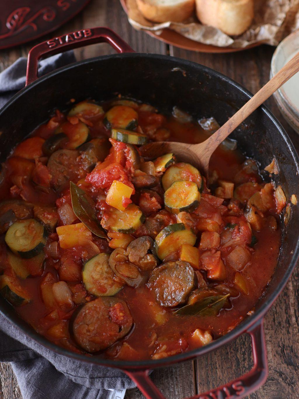 【レシピ】うまみたっぷり!彩り野菜のラタトゥイユ