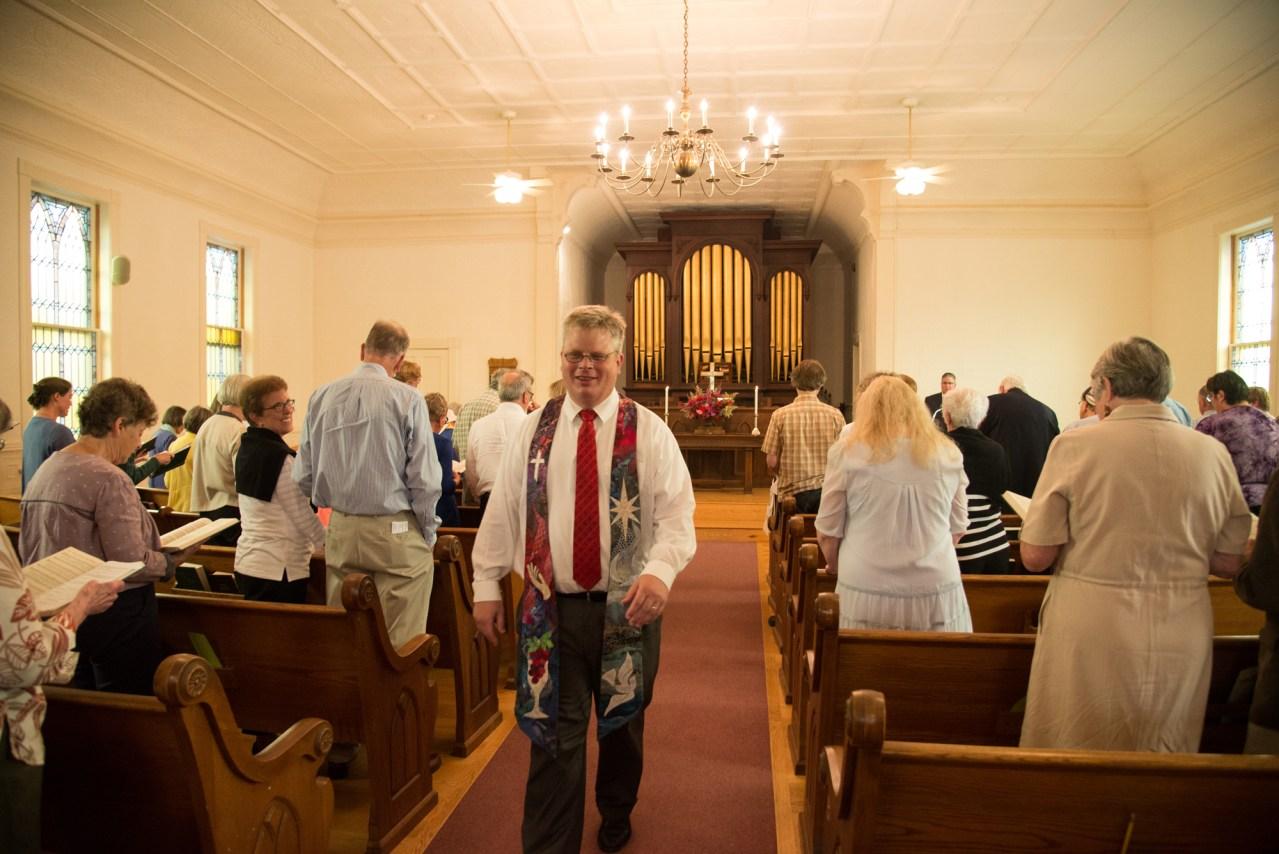 Reverend Ed Sunday-Winters, post-installation