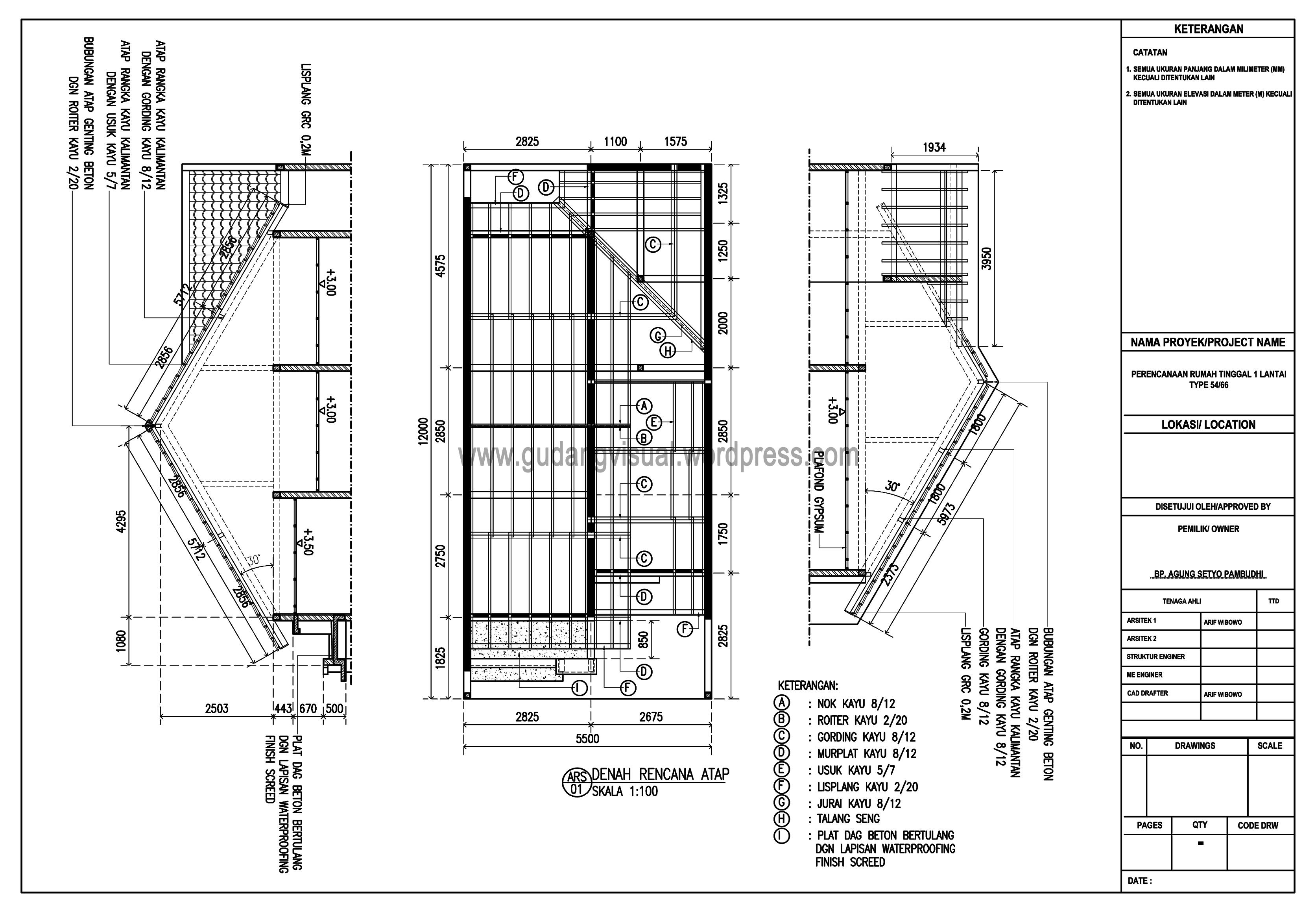 rangka baja ringan atap miring bowovisual – gudangvisual