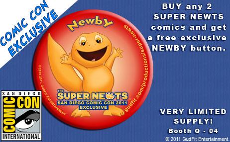 San Diego Comic Con Super Newts - Newby