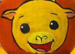 Curry Goat Fan Art on a Pumpkin for Halloween!