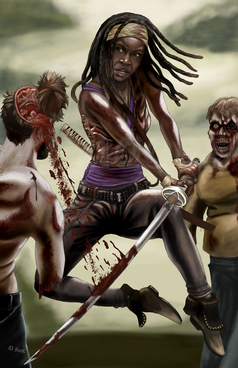 Michonne The Walking Dead: portrayed by Danai Gurira