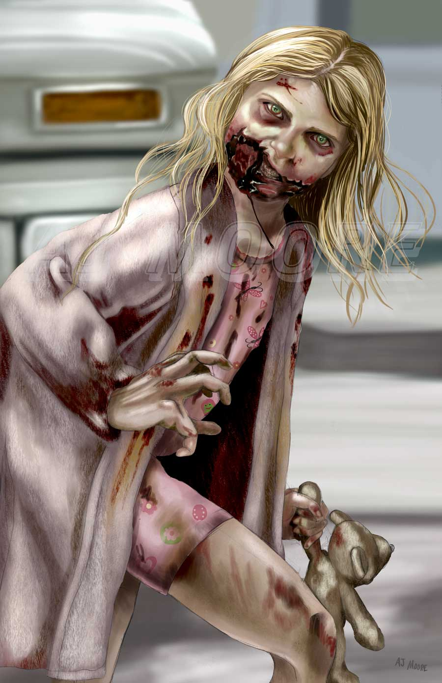 Zombie Little Girl The Walking Dead: portrayed by Addy Miller