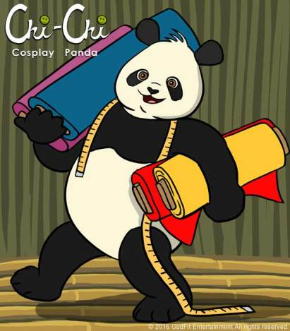 Chi Chi Cosplay Panda by GudFit Entertainment. Art by Artist AJ Moore