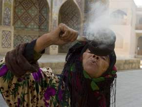 Wise woman, smoke for ones protection