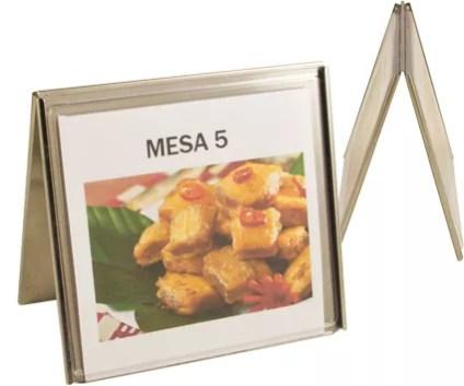 Display de Mesa em Aço Inox 2 lados 1