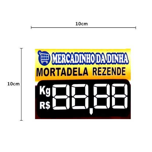 PRECIFICADOR PVC GÔNDOLA 3