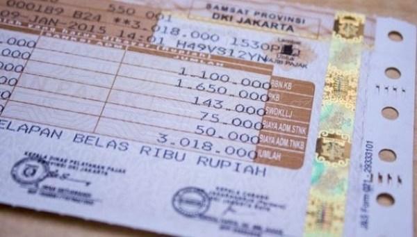 pajak kendaraan di stnk