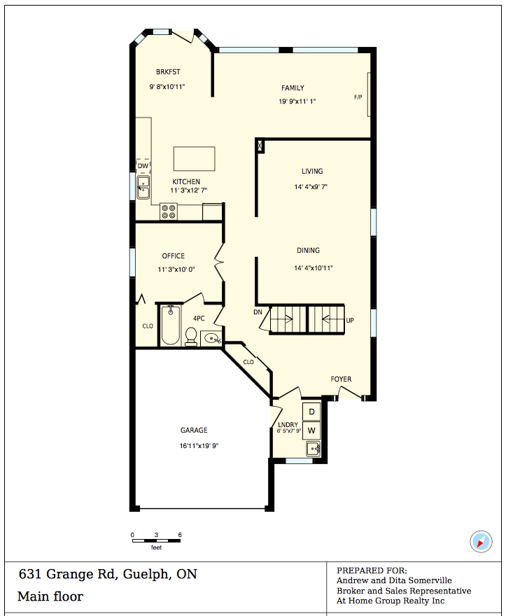 First Level Floor Plan 631 Grange Rd