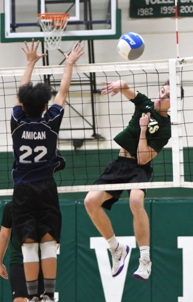Photos: Guelph CVI-Bishop Macdonell senior boys volleyball