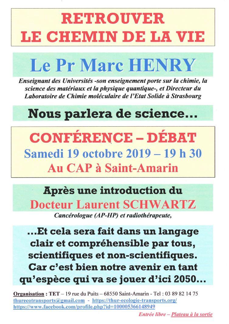 Conférence – débat à Saint-Amarin – Haut-Rhin