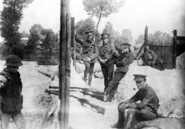 4th Dragoon Guards on the Mons Canal waiting for the infantry to take over their positions