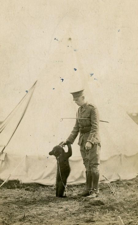 Winnipeg the Bear, with Lt. Harry Colebourn