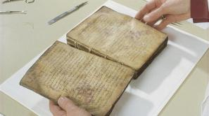 Archimedes Palimpsest bifolio