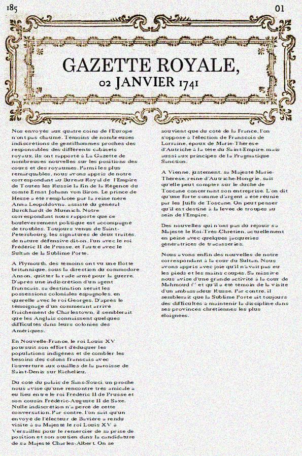 gazette royale n2
