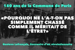 """""""POURQUOI NE L'A-T-ON PAS SIMPLEMENT CHASSÉ COMME IL MÉRITAIT DE L'ÊTRE?"""""""