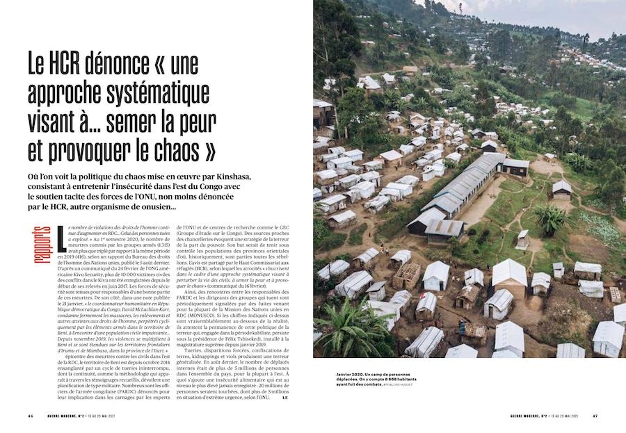 RDC: le HCR dénonce «une approche systématique visant à… semer la peur et provoquer le chaos».
