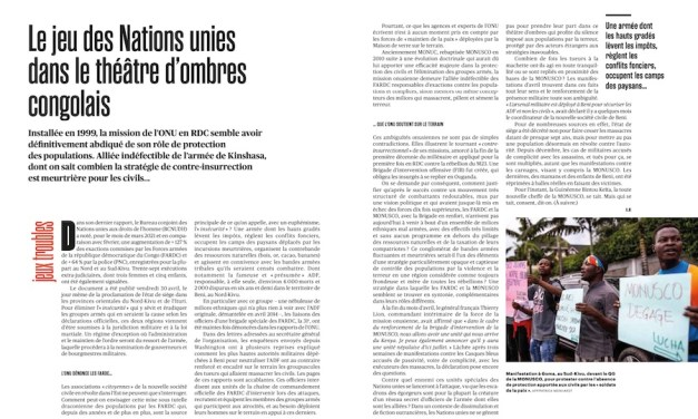 Le jeu des Nations unies dans le théâtre d'ombres congolais