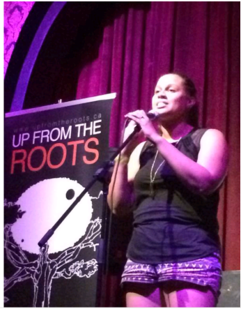Performing at the Toronto International Poetry SLAM (Aug 2014)