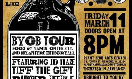 BYOB TOUR WITH BOOG BROWN AND YAMIN SEMALI COMING TO RICHMOND, VA FRIDAY MARCH 11TH