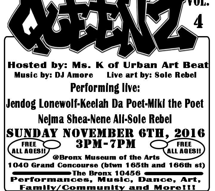 Respect to the QueenZ Vol.4 : Nov 6 at The Bronx Museum Of Arts
