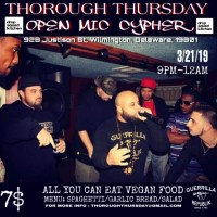 THOROUGH THURSDAY : OPEN MIC CYPHER 3/21/19 @ DROP SQUAD KITCHEN