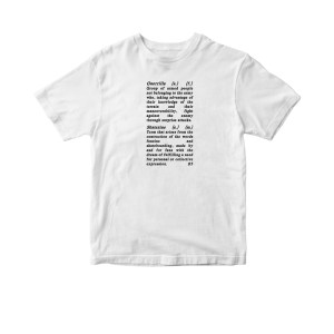 GUERRILLASKATEZINE TEXT T-SHIRT