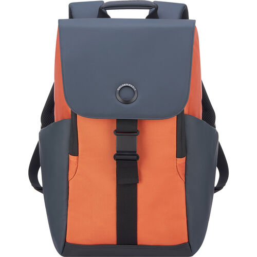 "Delsey Securflap Laptop-Rucksack 15"" 45,5 cm, orange/grau"