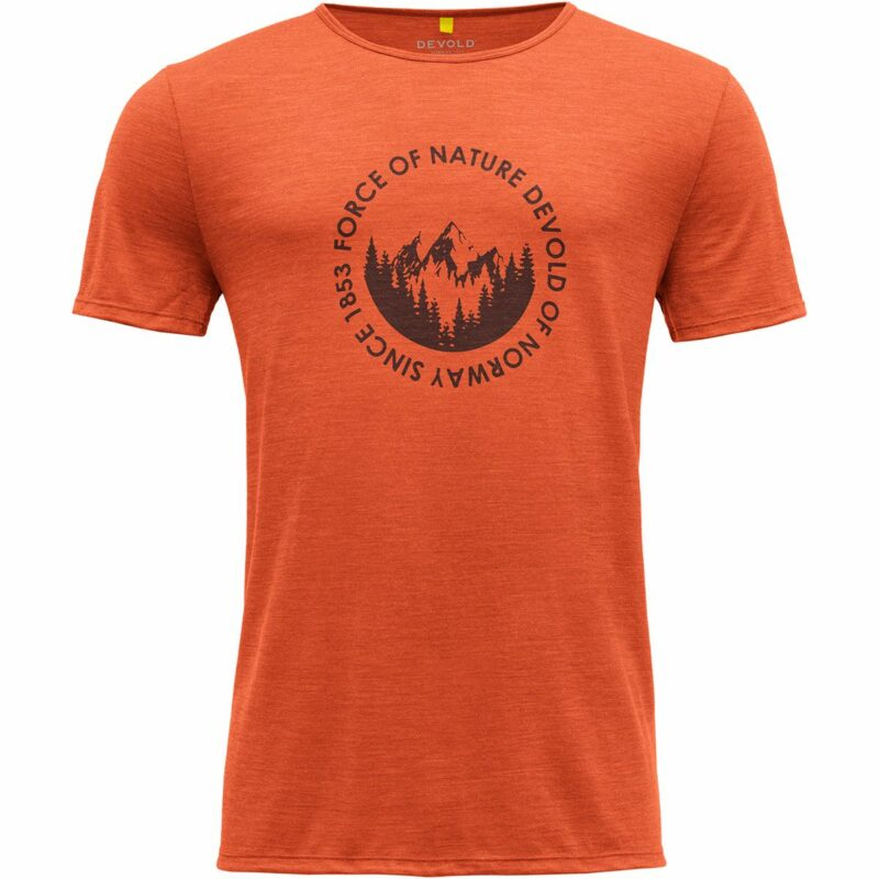 Devold Herren Leira T-Shirt (Größe XL, Orange)