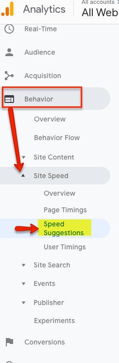 behavior google analytics
