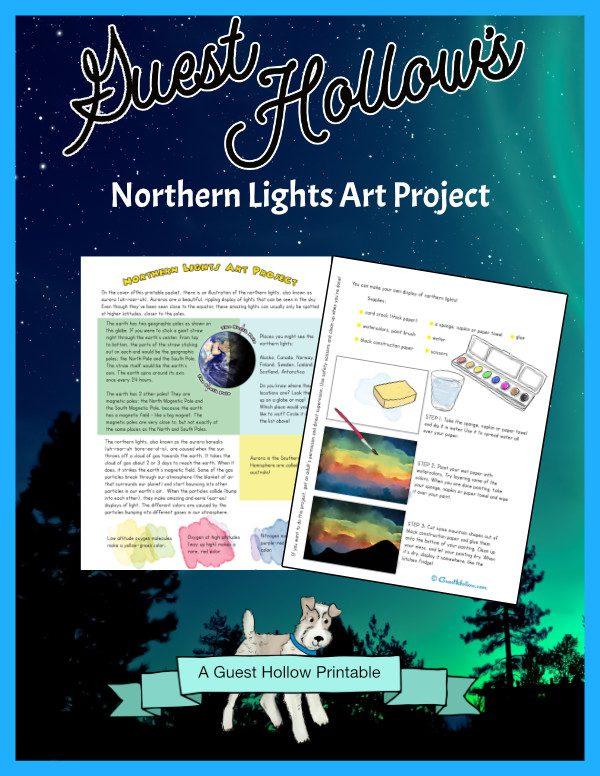 Northern Lights Art Activity