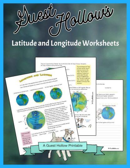 Latitude and longitude worksheets