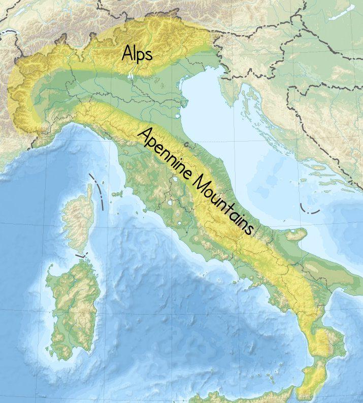 Italy's mountains