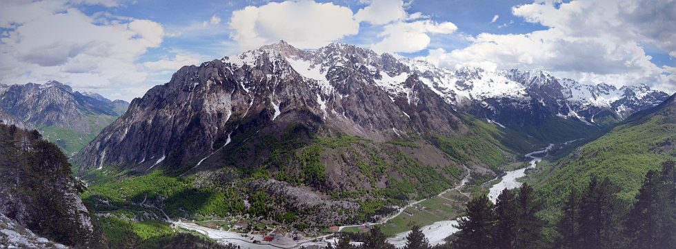 The Albanian Alps are an extension of the Dinaric Alps.