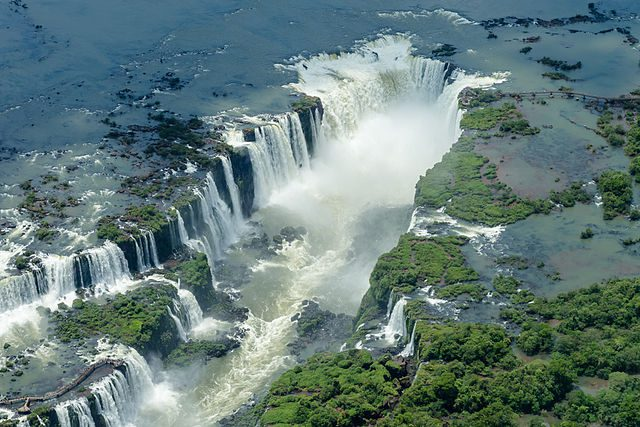 Iguazu Falls, Paraná, at the Brazil-Argentina border.
