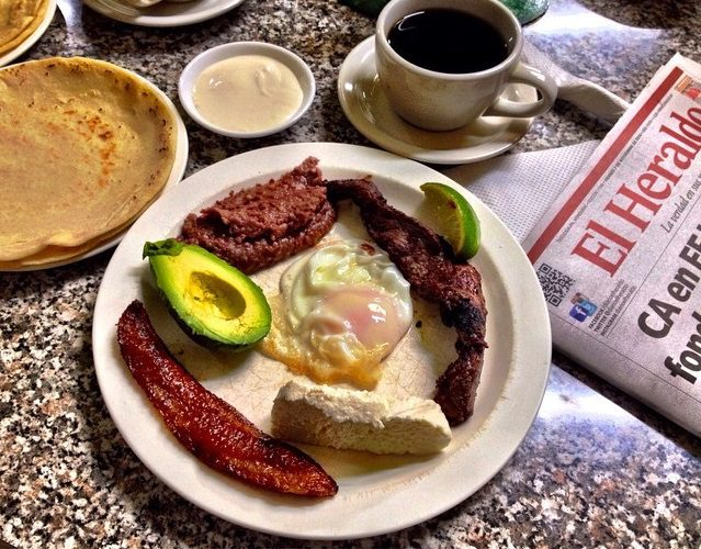 A Honduran breakfast