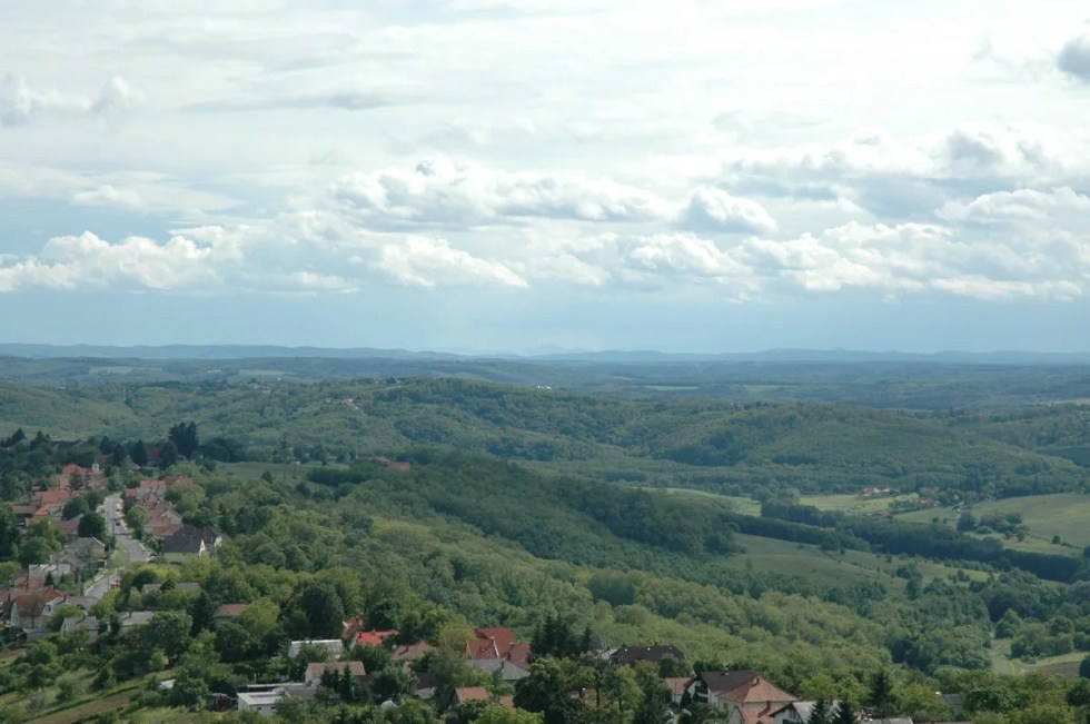 The landscape of Hungary in the Transdanubia region
