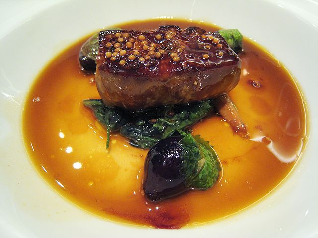Foie gras is made from the liver of a force-fed duck or goose. The technique of gavage (cramming food into the throats of domesticated geese and ducks) dates as far back as 2500 BC, when ancient Egyptians started keeping birds for food.
