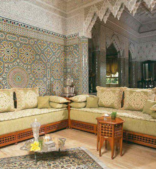 A Moroccan living room