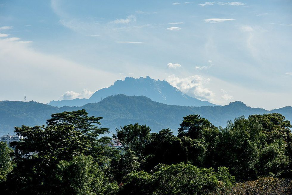 Mount Kinabalu, the highest summit in the country