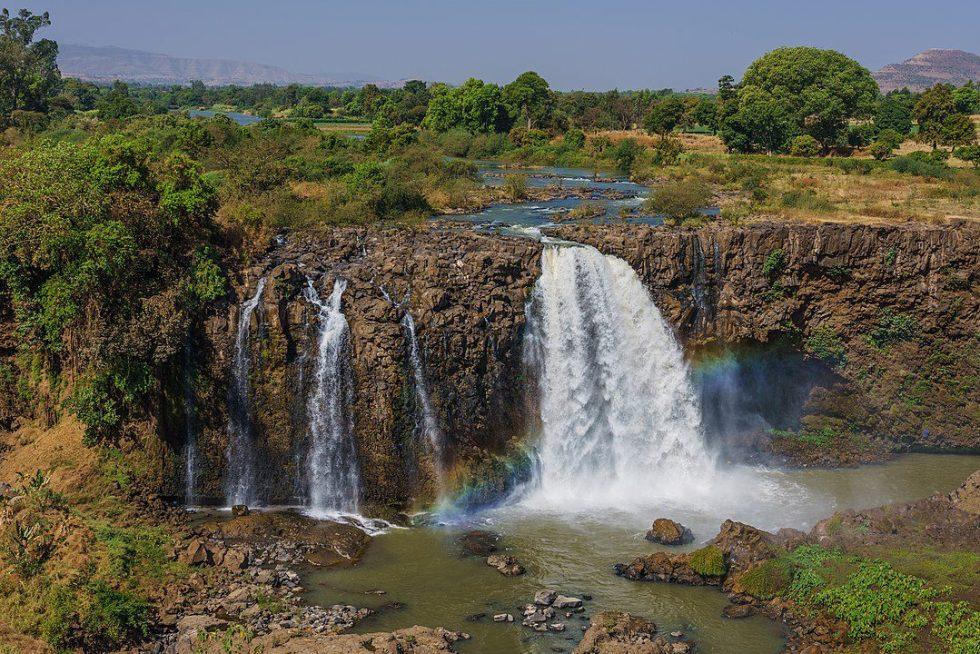 The Blue Nile Falls fed by Lake Tana near the city of Bahir Dar, Ethiopia
