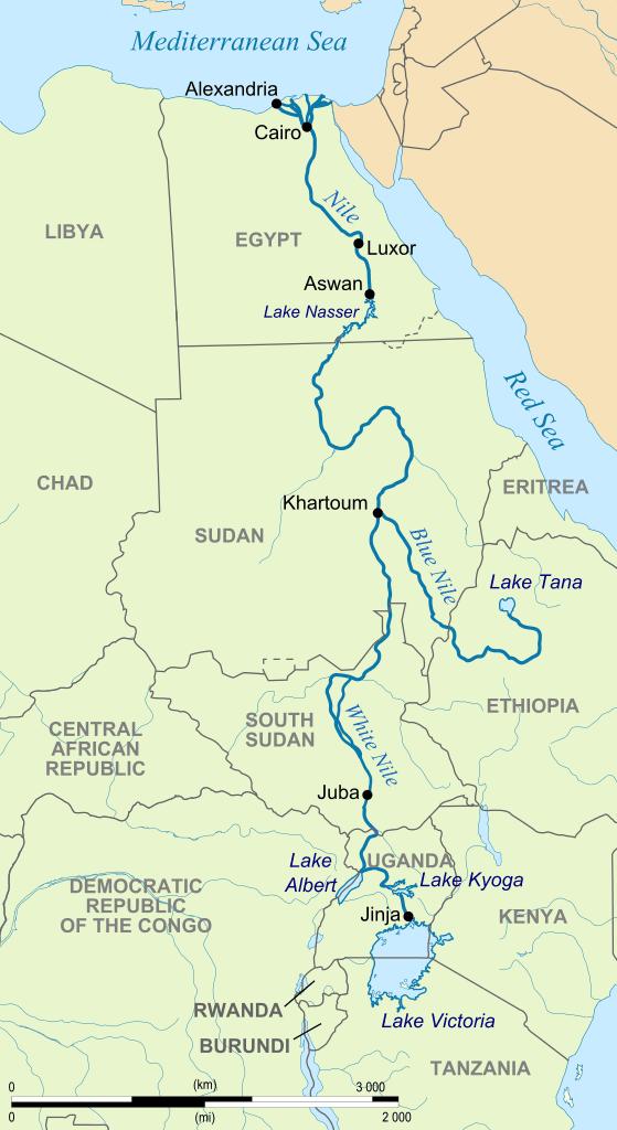 Nile River map