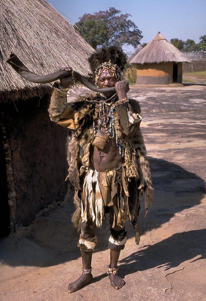 Witch doctor of the Shona people close to Great Zimbabwe, Zimbabwe
