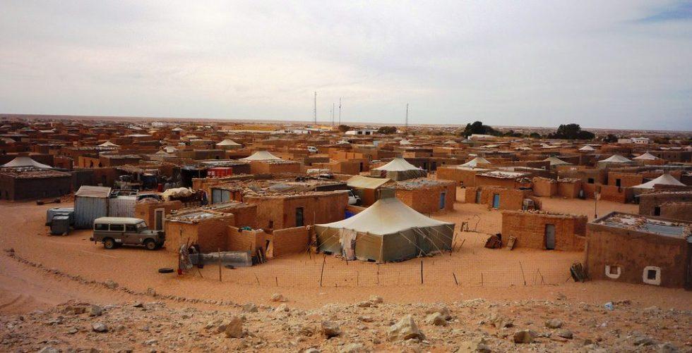 Saharawi refugee camp in Tindouf Province, Algeria