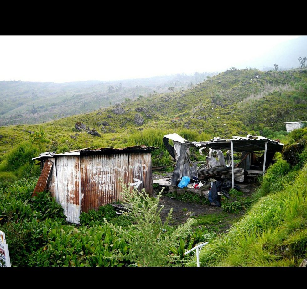 A shelter in Mt. Cameroon's landscape