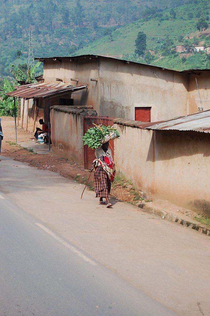A woman in Rwanda