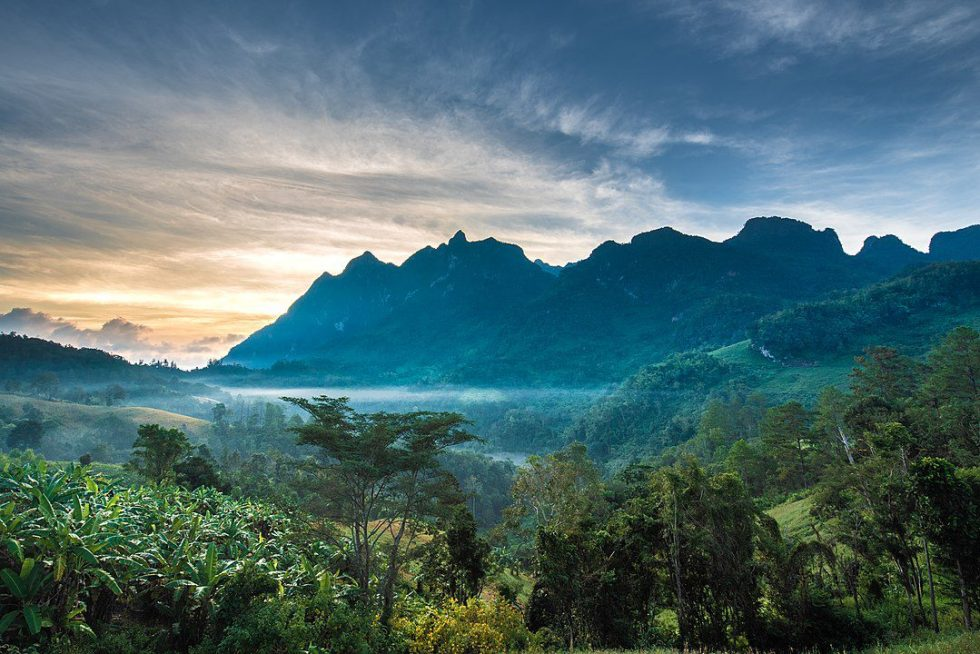 Chiang Dao Wildlife Sanctuary, north of the Thanon Thong Chai Range, in Chiang Mai Province, northern Thailand